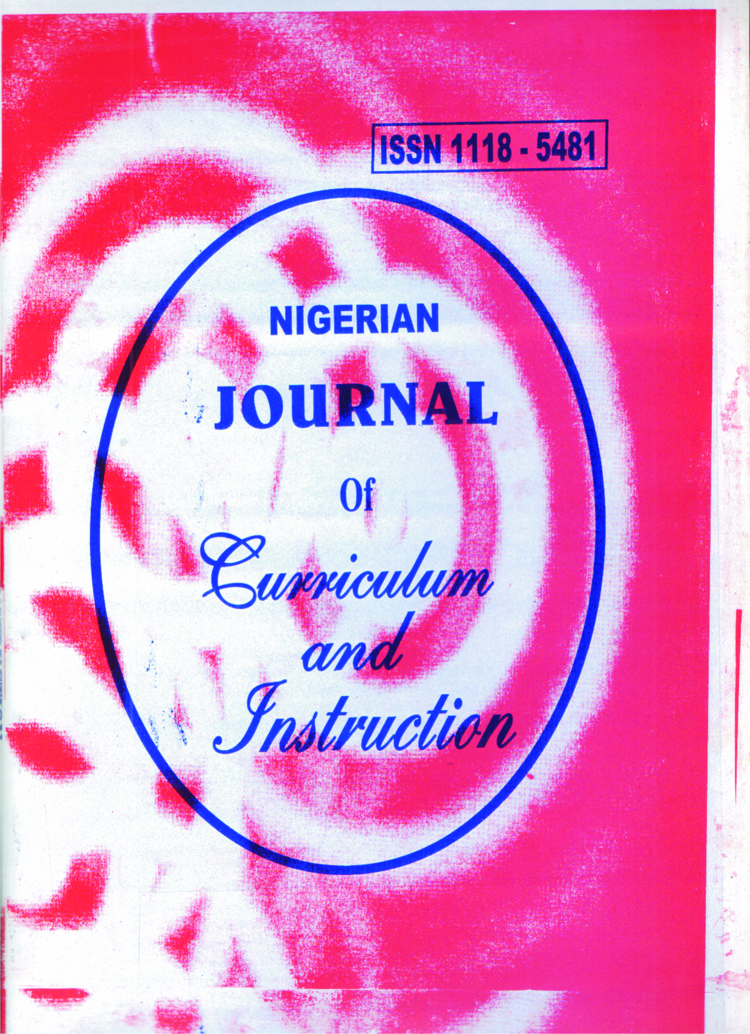 Nigerian Journal of Curriculum and Instruction