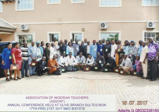 GROUP PHOTOGRAPH OF THE PARTICIPANTS AT THE OPENING CEREMONY (ASSONT CONFERENCE, 2017). BENUE STATE UNIVERSITY, MAKURDI
