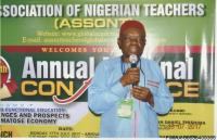 THE EXECUTIVE SECRETARY ASSONT, PROF. BYRON MADUEWESI, GIVING HIS CONTRIBUTIONS AT THE 13TH NATIONAL CONFERENCE OF ASSONT
