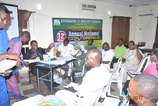 PLENARY SECTION OF PARTICIPANTS ON THE 12TH ANNUAL NATIONAL CONFERENCE OF ASSOCIATION OF NIGERIAN TEACHERS (ASSONT) - 2017