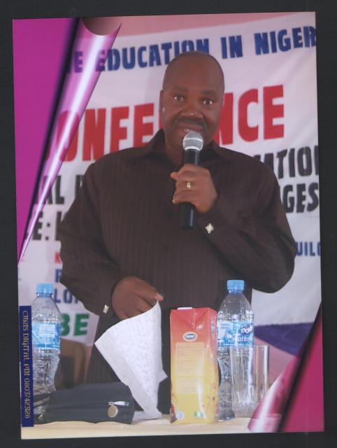 PROF AKUEZILO OF NNAMDI AZIKIWE UNIVERSITY, AWKA READING HIS LEAD PAPER DURING ASSEQEN CONFERENCE