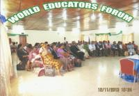 PARTICIPANTS DURING THE 2ND INTERNATIONAL CONFERENCE OF WORLD EDUCATORS FORUM AT HILL VALLEY HOTEL, FREETOWN, SIERRA LEONE.